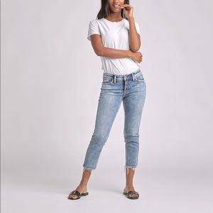 Silver Elyse Slim Crop Jeans